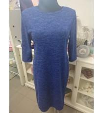 Sinine pehmest materjalist kleit