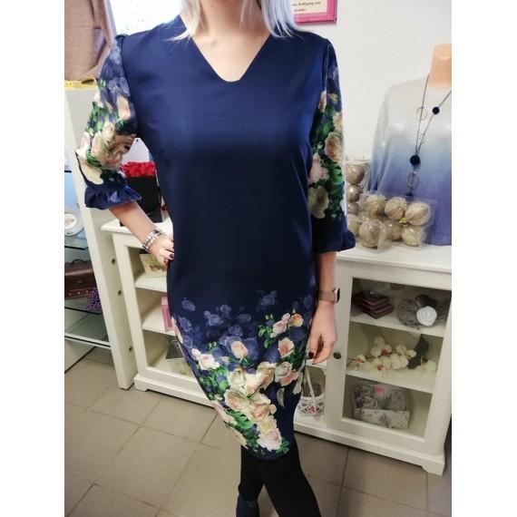 Sinine lilleline kleit